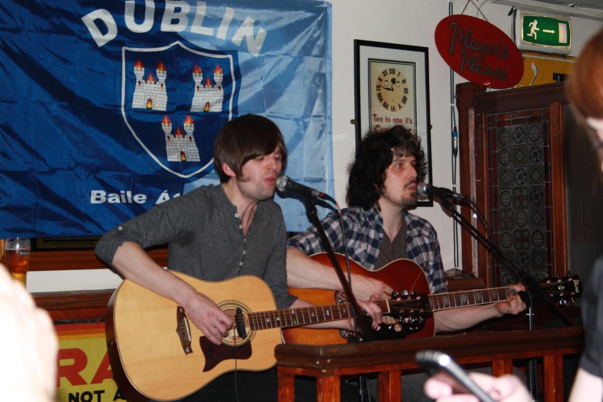 Al and Brian at Peadar's Kearneys